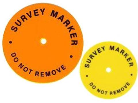ChrisNik Hubdisc Survey Marker Package of 100 24HUBDISC