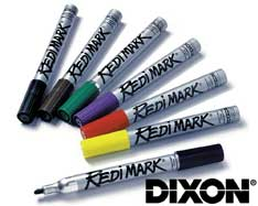 Black Redimark Markers Metal Barrel (box 12) Dixon 87170