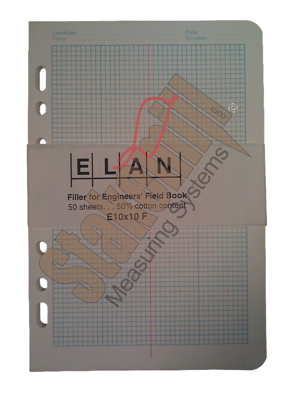 Elan E10x10 Cross Section Filler Paper Universal Punch 50 pgs SO