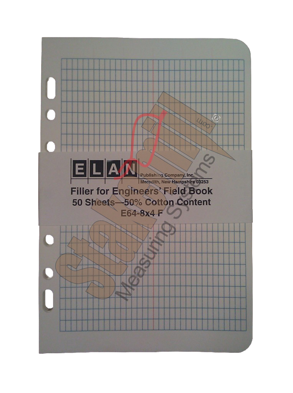 Elan E64-8x4 Field Book Filler Paper 50 pages