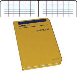 Sokkia Level Field Book 815255