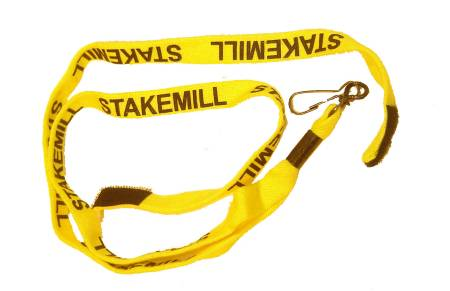 Stakemill 1/2 Inch Wide Cotton Stylus Lanyard (Set) Yellow