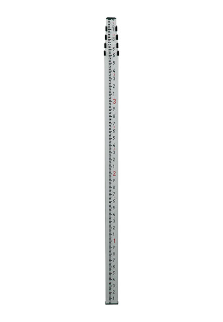 TOPCON 16 Ft Aluminum Builder Rod, tenths - Click Image to Close