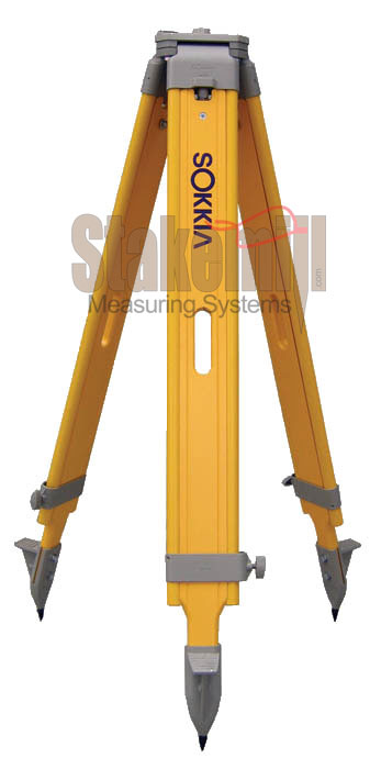 Sokkia Wide-Frame Wood Tripods Yellow 7512-52