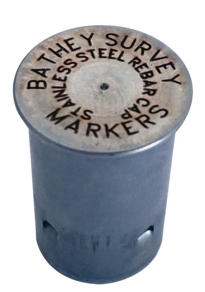 "Stainless Steel 5/8"" Rebar Cap - Laser Marked - Regular Top"