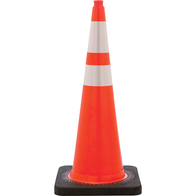 36 Inch 12 pound Safety Cone with Dual Reflective Bands