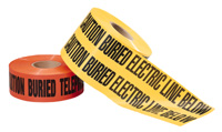 "Non-Detectable Underground Warning Tape 6"" x 1000'"