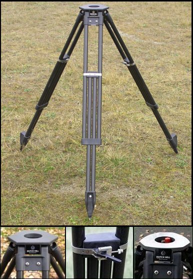 Dutch Hill GT2000CFA Black Carbon Fiber Tripod Aluminum Head