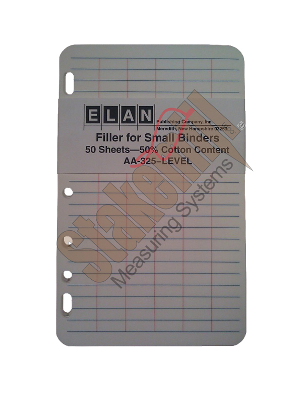Elan E64-64M Field Book Filler Paper Universal Punch 50 pages