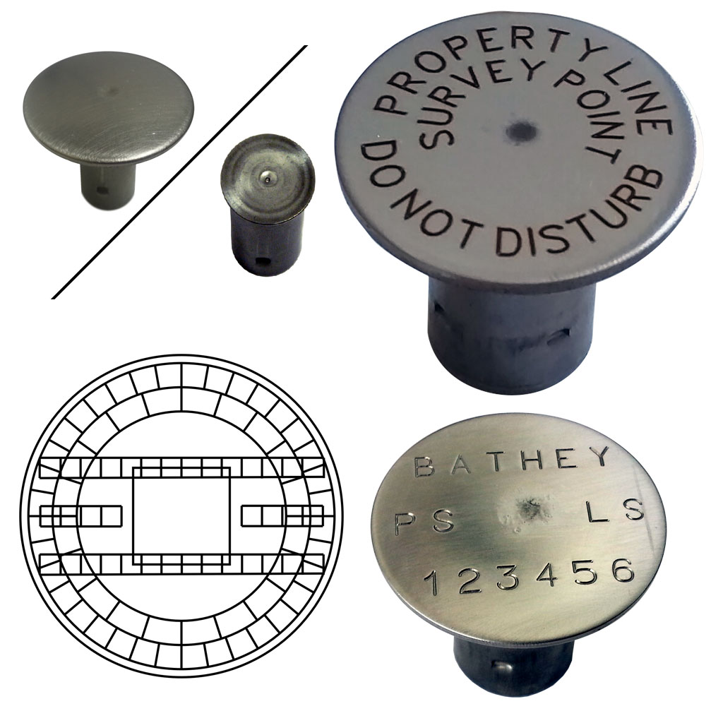 "Stainless Steel 1/2"" Rebar Cap - Laser Marked - 1 1/2"" Top"