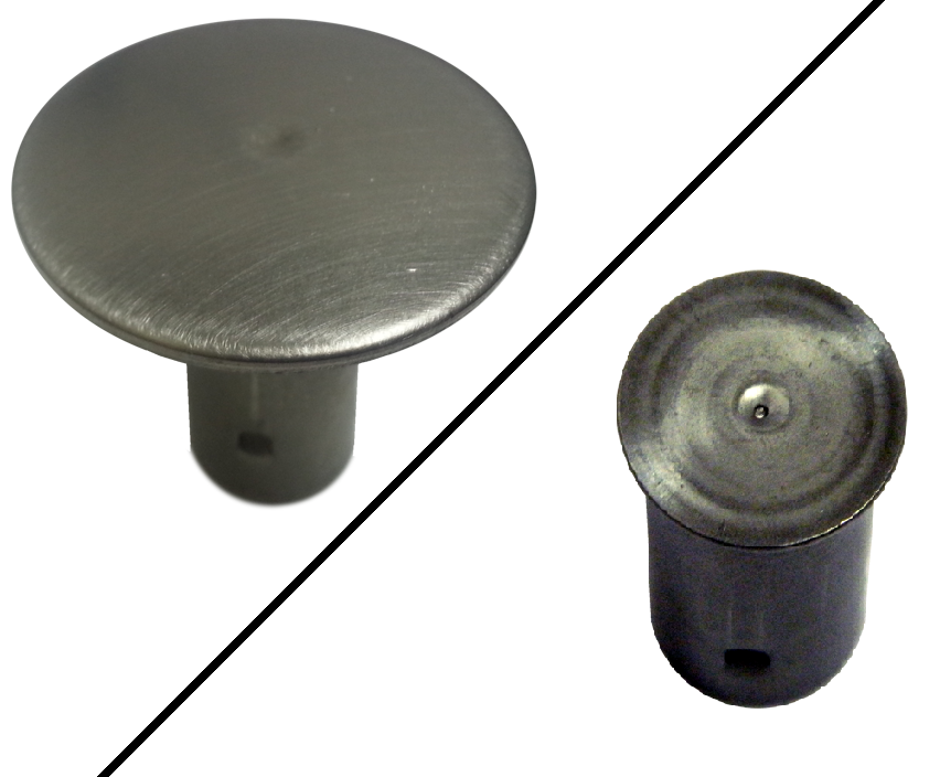 "Stainless Steel 1/2"" Rebar Cap - 1-1/2"" Top - Plain"