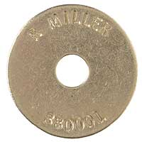 Brass 1-1/2 Inch HD Stamped Washer Disc